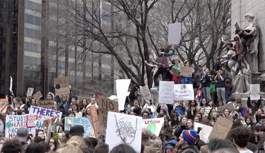 Students Walk Out to Demand Action on Climate Change